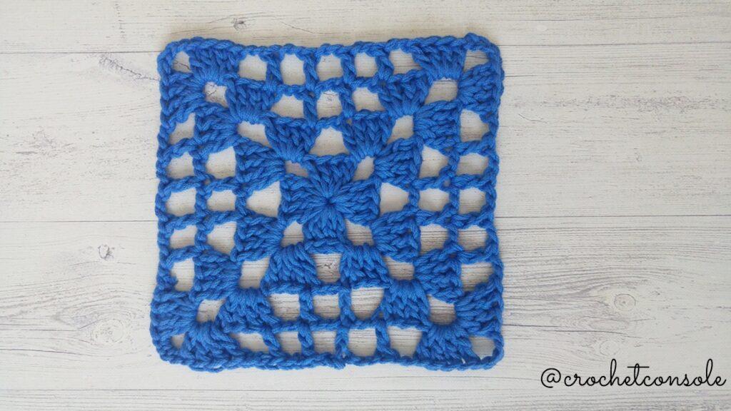 Cuadrado o motivo calado a crochet-Crochet con Sole